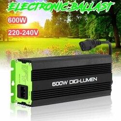 Balasto Digital con enchufe europeo de 600w para jardinera, luces de cultivo, bombillas HPS MH