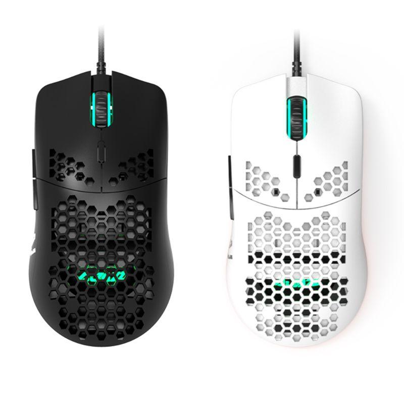 Aj390 leve com fio mouse oco para