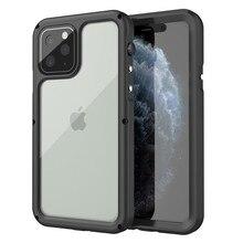 IP68 fundas de teléfono impermeables para iPhone 11 Pro X XR XS Max funda de natación buceo impermeable cubierta de Metal