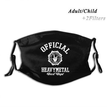 Official Heavy Metal Devil Dept Reusable Mouth Face Mask With Filters Kids Heavy Metal Punk Metal Metalhead Headbanger Punx image
