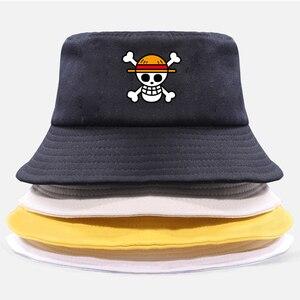 Одна штука Панама Кепка пират король аниме Луффи Харадзюку женская мужская хлопковая уличная Солнцезащитная шляпа с широкими полями Кепка ...