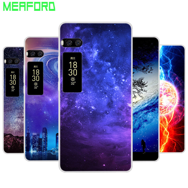 Silicone Case For Meizu Pro 7 Cover Pro7 Plus Soft Space Art Print Back Cover For Meizu Pro 7 Plus Pro7 Clear bumper TPU Cases