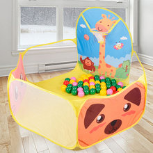Foldable Children's Toys Tent For Ocean Balls Baby Play Ball Pool With Basket Outdoor Game Playhouse for Kids Children(China)