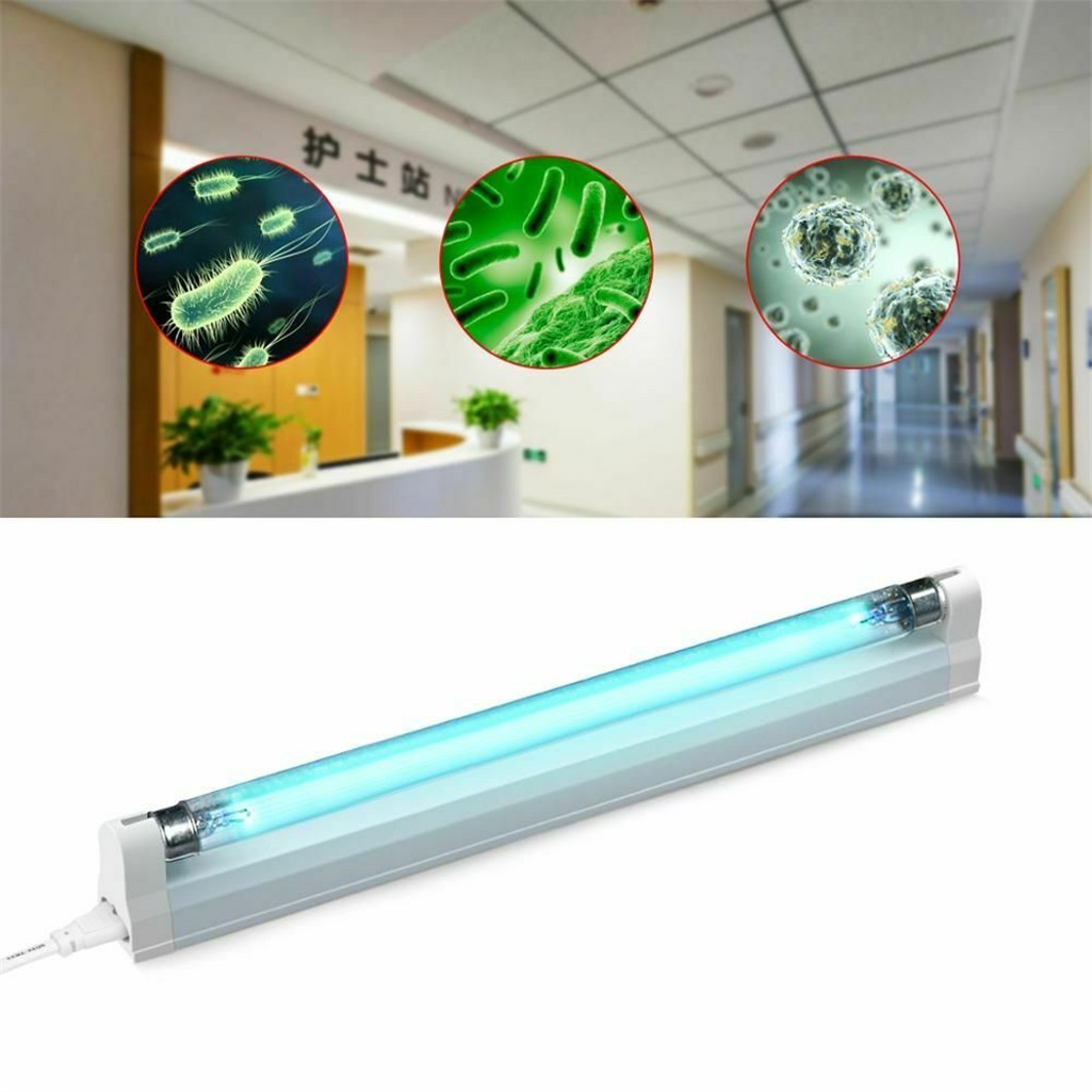 LED UV Lamp Germicidal Sterilizer Eliminator Home Tube Quartz Ultraviolet Light