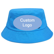 Customize Embroidery Stitching Logo Hat Optional Color One Size Fit Most Outdoor Fishermen Fish Fishing Cap Custom Bucket Hat