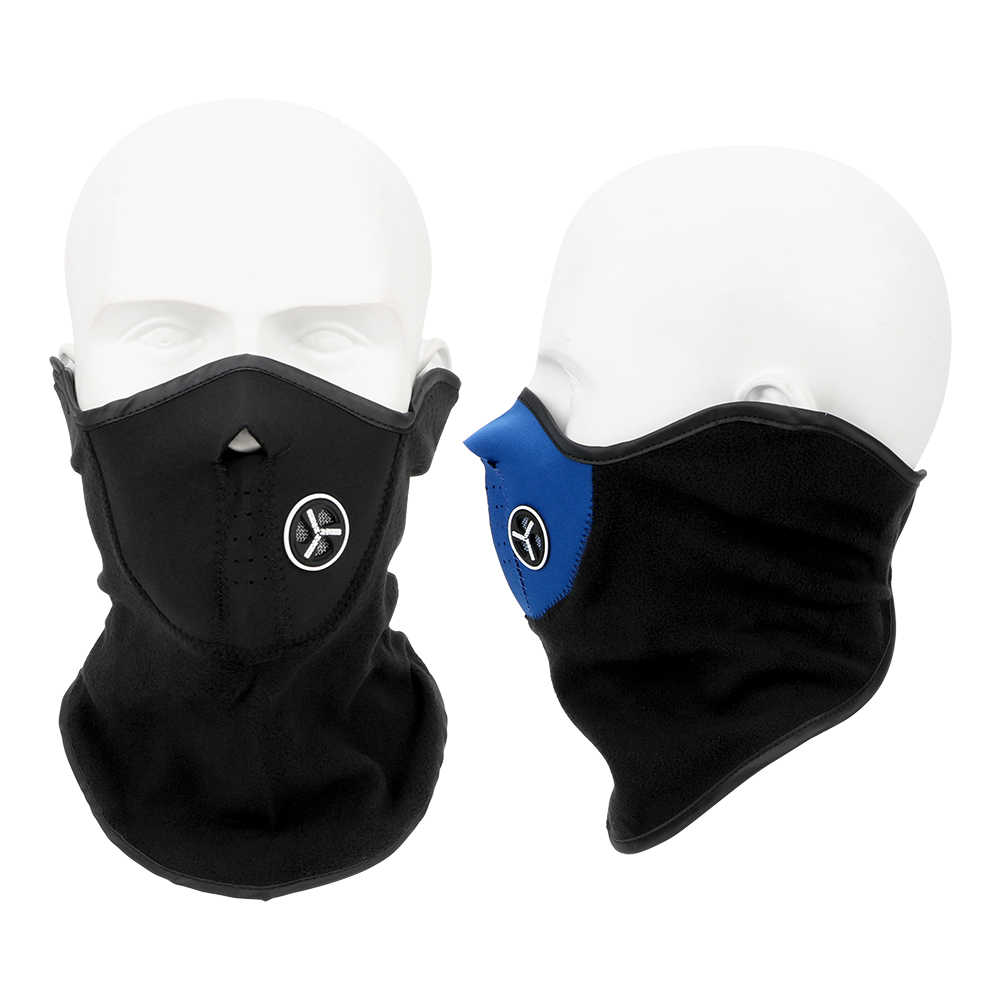 LEEPEE cálido invierno esquí nieve bufanda motocicleta media cara máscara cubierta pasamontañas al aire libre deportes cuello protección motocicleta cara máscara