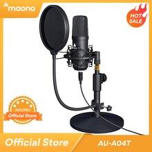 MAONO USB micro Kit professionnel Podcast Streaming Microphone condensateur Studio micro pour ordinateur YouTube enregistrement de jeu