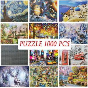 Jigsaw-Puzzles Wooden Home-Games Travel Adults Kids Children 1000pieces Landscape