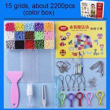 24 Kleuren Refill Kralen Puzzel Kristall Diy Wasser Spray Kralen Set Balspelen 3D Handgemaakte Magie Speelgoed Voor kinder