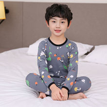 O-Neck Children Pajamas Baby Clothing Set Kids Cartoon Sleepwear Autumn Cotton Nightwear Boys Girls Animal Pyjamas Pijamas Set