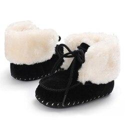 2019 Осенняя новая детская нескользящая обувь для новорожденных с мягкой подошвой для маленьких мальчиков и девочек зимние теплые однотонны...