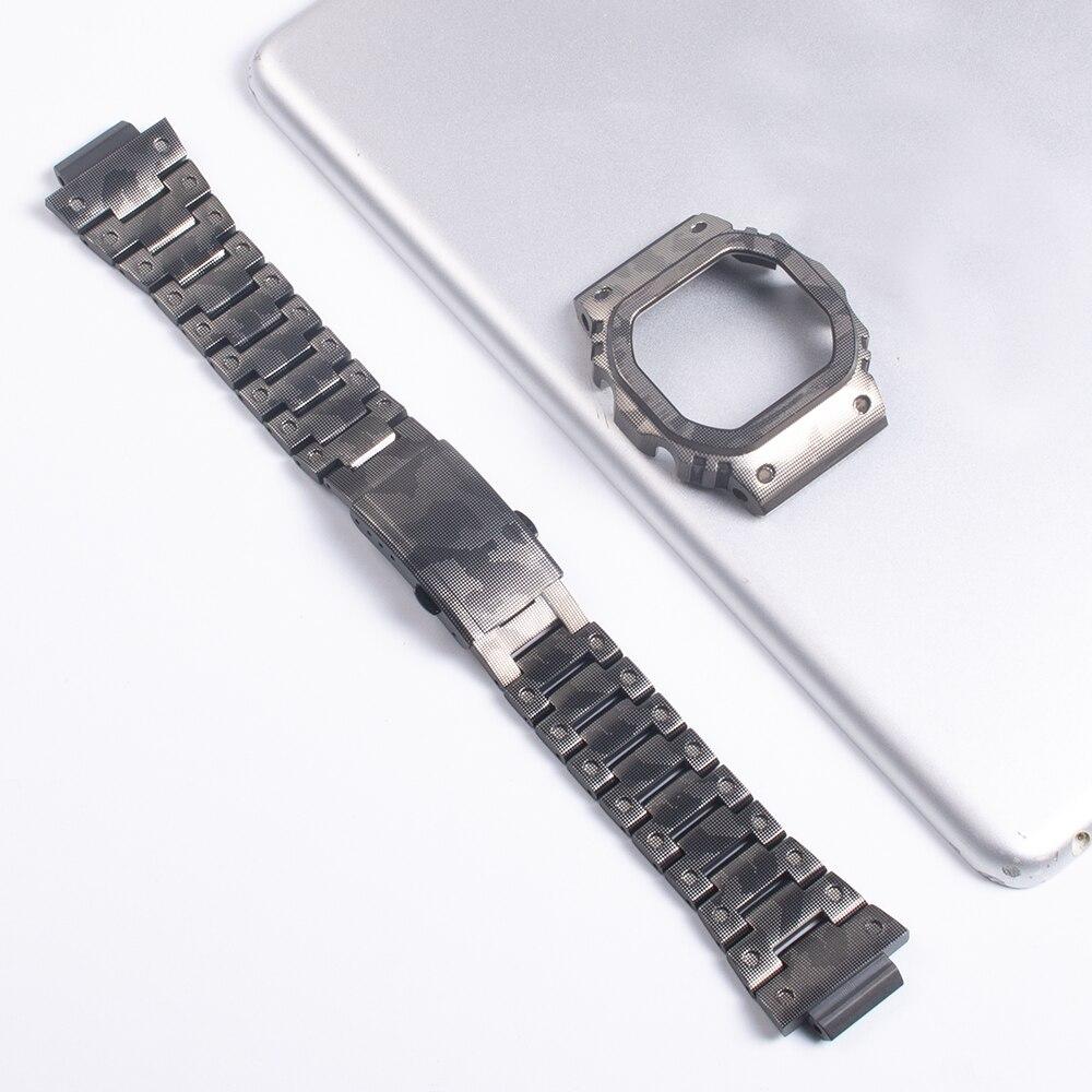 Watch Bracelet For Casio G-shock DW-5035 GWX-5600 Watch Case 316L Stainless Steel Watch Band For Casio GLX-5600 G-5600-E Watch