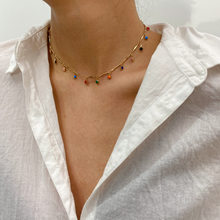 Creative fashion simple clavicle necklace with personality geometric popular bone chain stitching necklace for female
