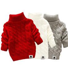 LCJMMO małe dziewczynki swetry 2019 zima ciepłe dla dzieci chłopcy swetry dzianinowy sweter sweter dla dziewczynki odzież wierzchnia 80-105cm tanie tanio COTTON Na co dzień Cartoon REGULAR Golfem Unisex MM-822 Pełna PATTERN Pasuje prawda na wymiar weź swój normalny rozmiar
