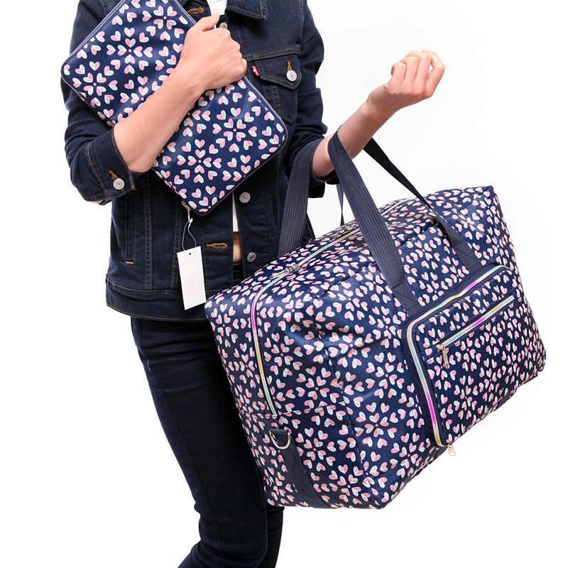 Składany wózek podróżny organizer na torby damskie ubrania na zamek kostki do pakowania bagaż Duffle akcesoria torebkowe materiały eksploatacyjne