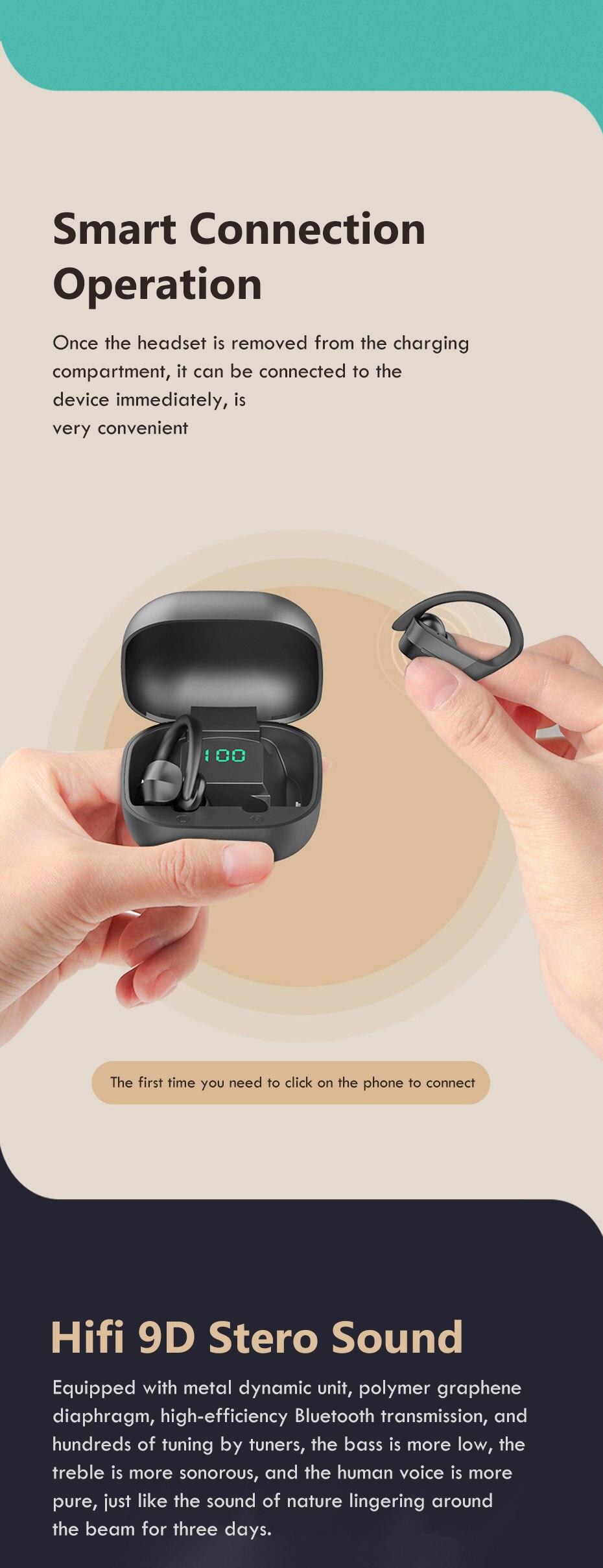 H2a534bc9fa37471ebf293a9a7281f328x Waterproof Headphone Touch Control HiFi Tws Earbuds