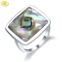 Silver Ring 925 Jewelry for Women Abalone Shell Unique 925 Silver Rings Gift Special Unique Style for Personal Birthday Gifts
