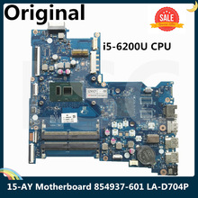 CPU Laptop Motherboard Hp 15-Ay 854937-601 BDL50 LA-D704P SR2EY I5-6200U for with LSC