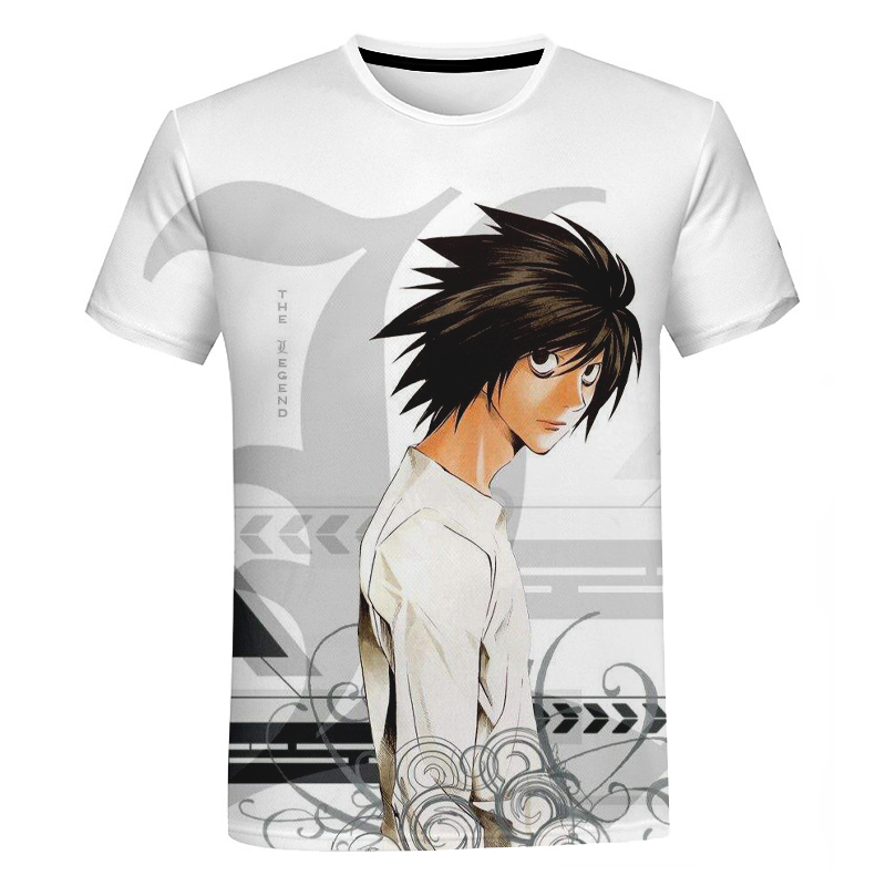 Death Note L Lawliet 3D Printed T-shirt Men/Women Funny Fashion O-neck Tshirts Casual Streewear Tee Shirt Bigsize 5XL