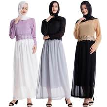 Abaya Dubai Muslim Tops Ensemble Femme Musulmane 2 Pieces Pantalon Oman Pakistan Turkish Islamic Clothing Women Hijab Dress Set(China)