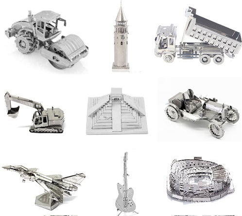 3D Metal Model Puzzle Building Aircraft Car Minstrument Variety DIY Toy Model Assembly Kit Adult Puzzle Children Educatio