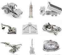 3D Metalu Puzzle DIY Wielofunkcyjne Laserowe Cięcia Puzzle Styl Architektoniczny Yueyang Wieża Puzzle Dla Dorosłych Dzieci Prezent Puzzle