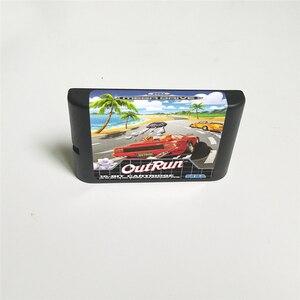 Image 2 - OutRun خارج تشغيل يورو غطاء مع صندوق البيع بالتجزئة 16 بت MD بطاقة الألعاب ل Megadrive نشأة لعبة فيديو وحدة التحكم