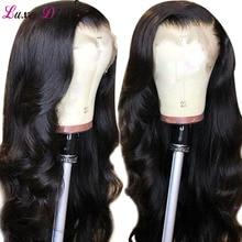 Luxediva, фронтальные человеческие волосы, парики с детскими волосами, предварительно выщипанные бразильские волнистые 360, парик с линией волос для женщин, NRemy
