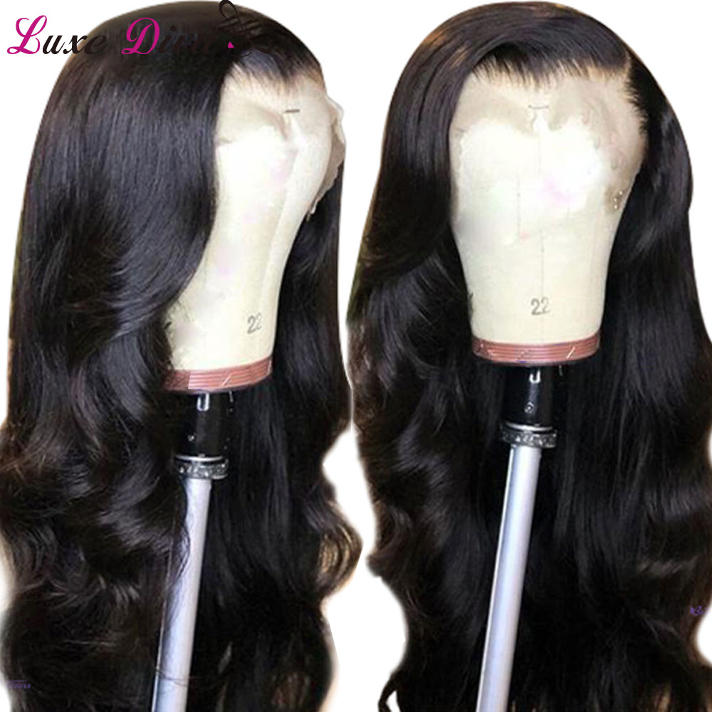 Luxediva Lace Front Human Hair Wigs With Baby Hair Pre Plucked  Remy Brazilian Body Wave 360 Lace Wig With Hair Line For Women