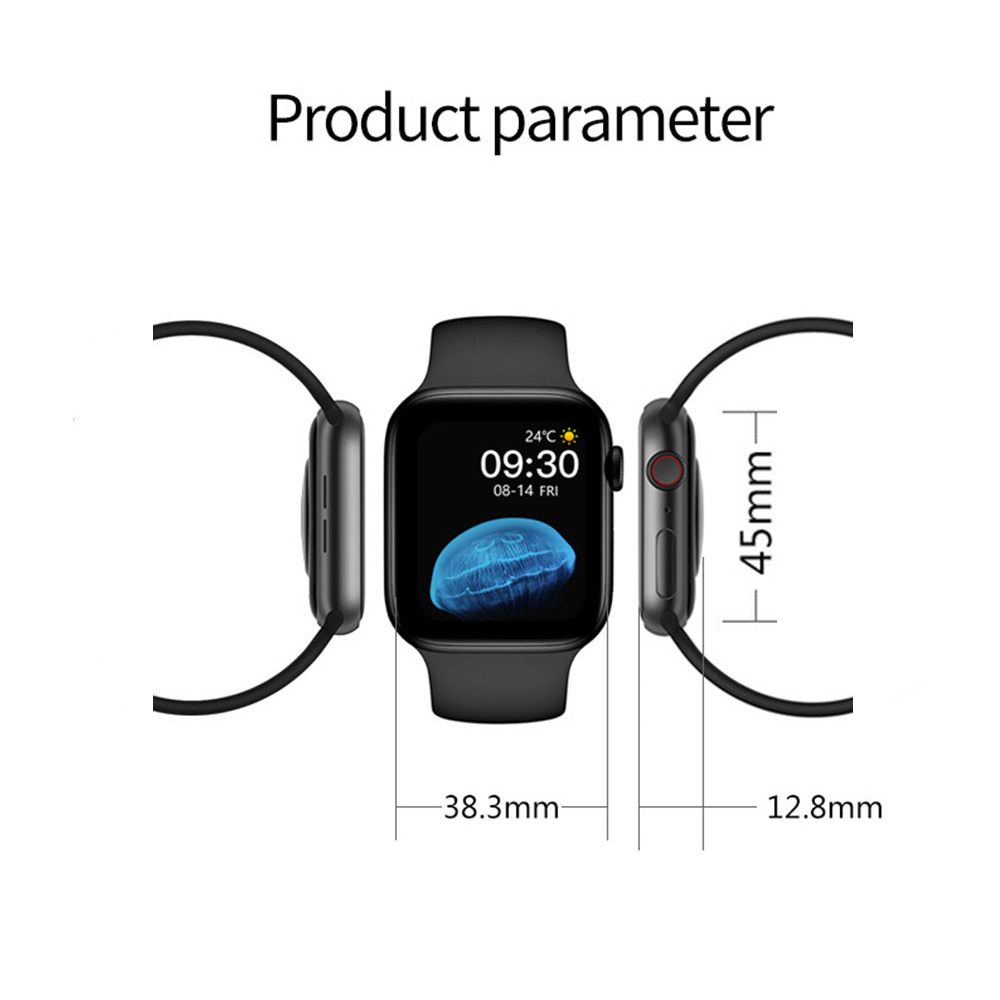 H2a53e2830ac54d209aa23ca19e93d3504 2021 HW22pro Smart Watch Men Women Split Screen Display Original Smartwatch Body Temperature Monitor BT Call For Android IOS IWO