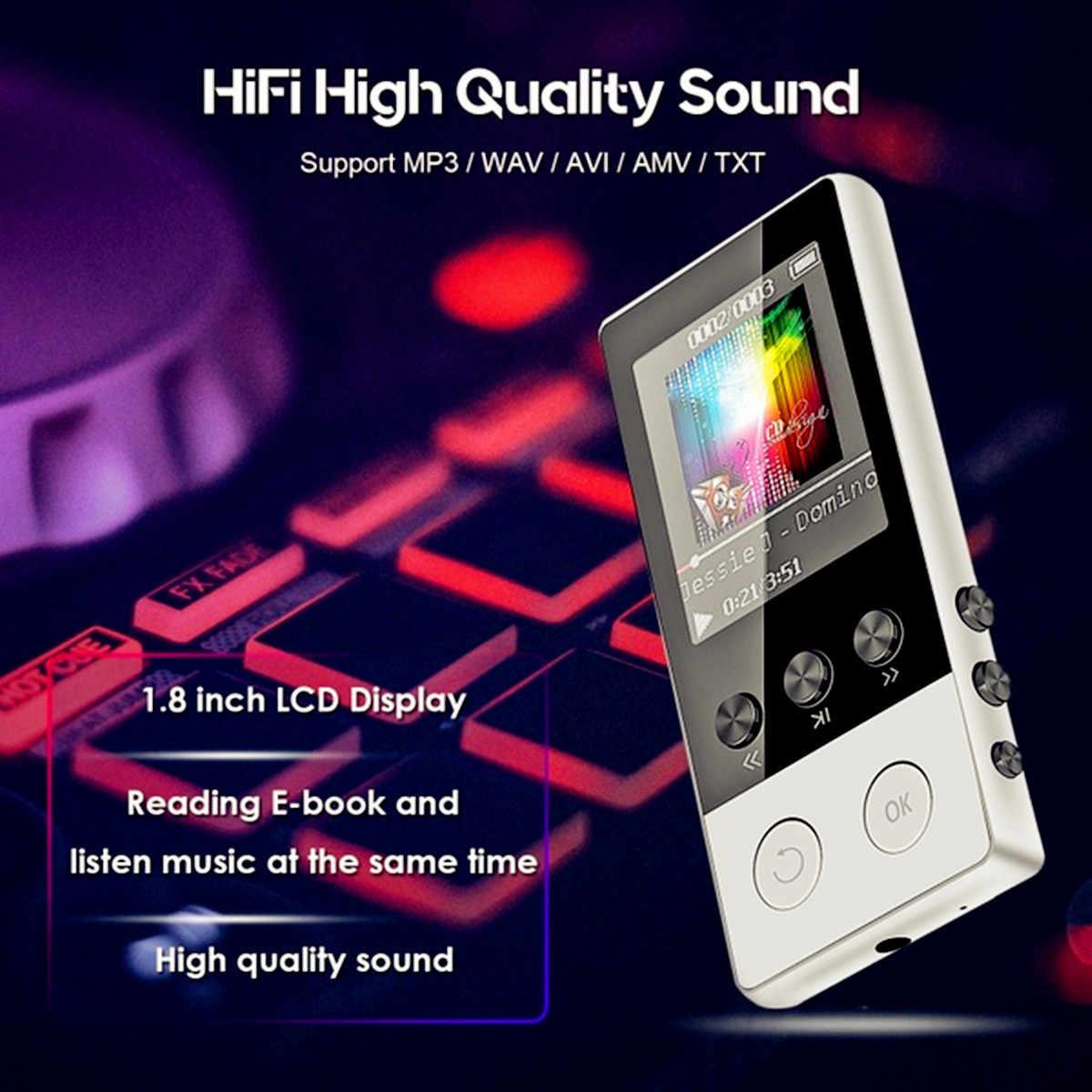 Fino a 128GB bluetooth MP3 Auricolari del Lettore Hi-fi Radio fm Sport MP 4 HiFi Lettori di Musica Portatili di Registrazione Vocale registratore Carta di TF