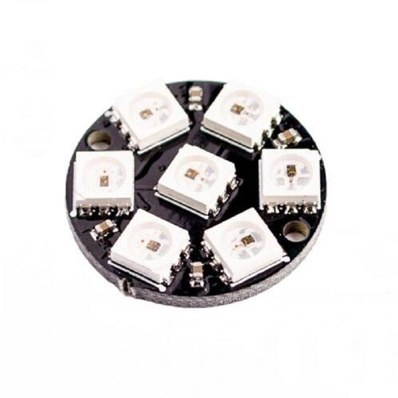 10PCS 7 Bit WS2812 5050 RGB LED Built-in Full Color Drive Lamp 7-bit Round Ring Development Board Module