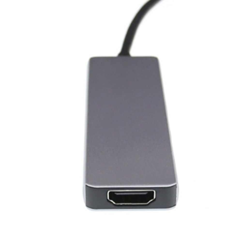 الصاعقة 3 محور usbc حوض USB نوع C إلى HDMI USB3.0 كابل TF SD بطاقة 5IN1 محول الفاصل ل ماك بوك برو 2017 ديل XPS 13