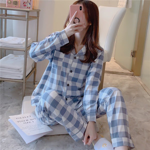 Image 3 - Caiyier Herfst Winter Pyjama Set Leuke Gele Eend Print Oorzakelijk Nachtkleding Mooie Meisje Lange Mouwen Koreaanse Nachtjapon Dames Homewe