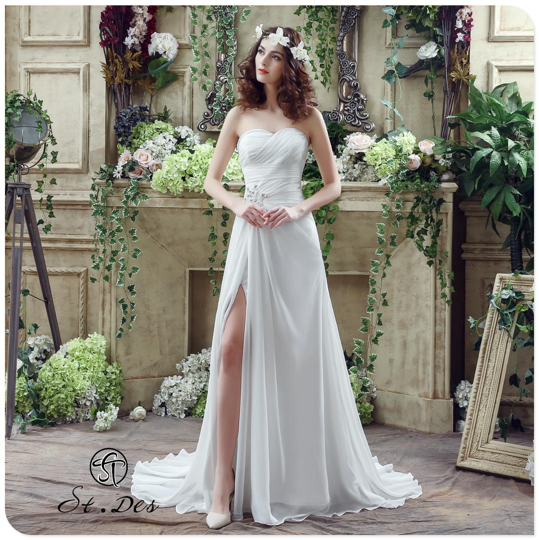 S.T.DES Wedding Dress 2020 Ivory A-line Russian Sweat Heart Strapless Floor-length Designer Elegant Wedding Dress Wedding Gown