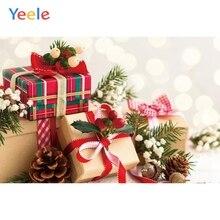 Yeele Christmas Photocall Gifts Balls Bokeh Lights Photography Backdrops Personalized Photographic Backgrounds For Photo Studio стоимость