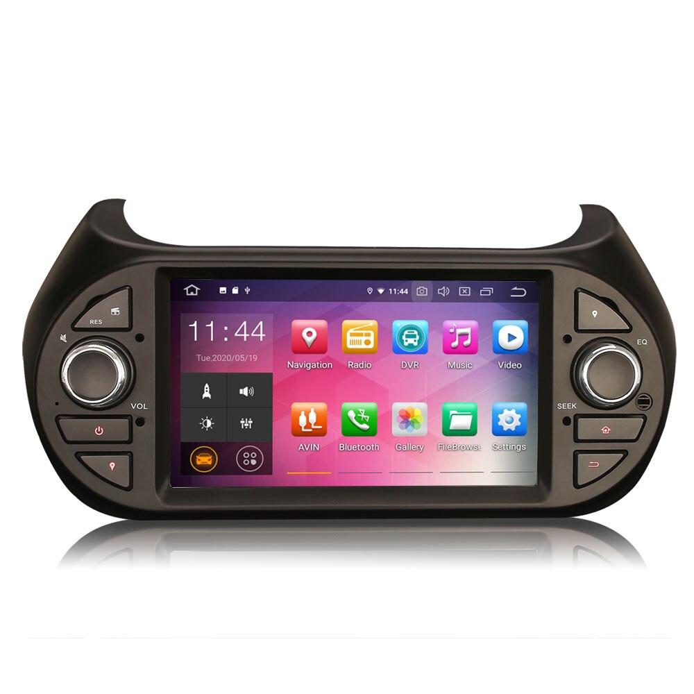 "7 ""Android 10.0 os GPS Multimídia Carro Sistema de Rádio Player para Peugeot Bipper 2008-2017 com CarPlay/android Apoio Automático"