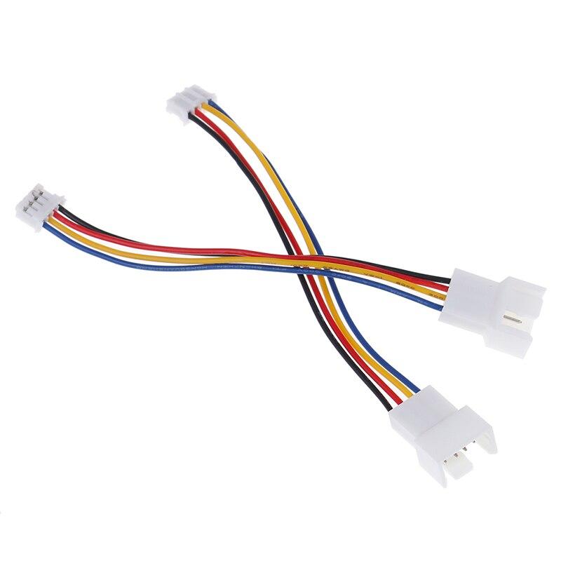 2 шт., универсальный упор для маленькая 4 Pin к 3pin 4pin вентилятор PWM разъем удлинители Кабели питания      АлиЭкспресс