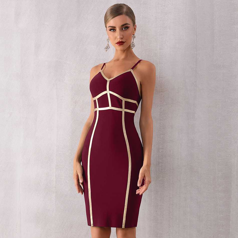 Seamyla Black Striped Spaghetti Strap Strapless Bandage Dress Women Sexy Sleeveless Bodycon Elegant Night 2019 Vestidos Party