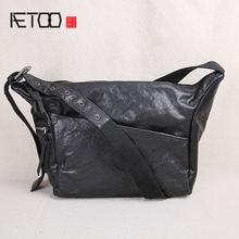 Мужская сумка на плечо aetoo из натуральной кожи в стиле ретро