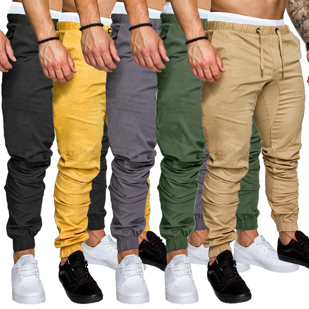 Brand Men Long Trousers 2019 Autumn Fashion Solid Color Joggers Pant Hip Hop Streetwear Casual Pants Anti-dirty Khaki Overalls