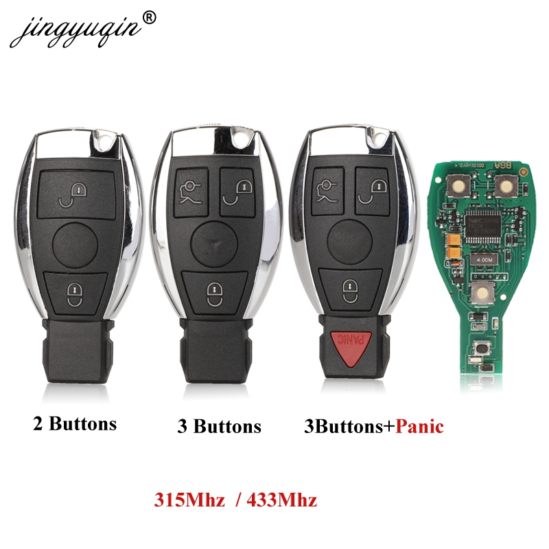 jingyuqin BGA Style 2/3/4 Buttons Remote Smart Car Key 315Mhz / 433MHz for MB Mercedes BENZ E S 2Supports Original NEC BGA Fob