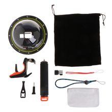 Duiken Dome Poort Waterdichte Behuizing Case Cover Voor Gopro Hero 5/6 Camera Trigger