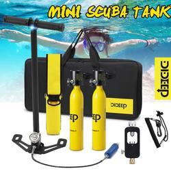 Sistema de buceo DIDEEP, Mini tanque de oxígeno, tanque de aire, tanque de reserva de buceo, bomba de tanque de aire, equipo de snorkel, equipo de buceo