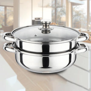 Steamer Pot Stainless-Steel Kitchen 28cm with Handle Polishing 2-tier/Dual-use/Kitchen