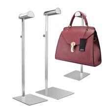 Витрина для магазина одежды из нержавеющей стали для мужчин и женщин, вешалка для сумок с крючками, стойка для сумок, витрина с крючками для париков