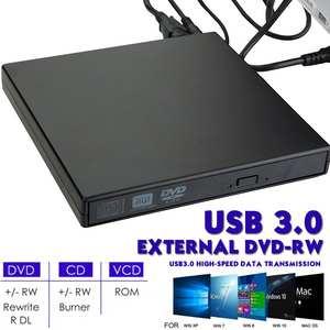 Drive Reader-Player Burner Laptop Cd Writer External Dvd Slim RW for PC Usb-3.0-Interface