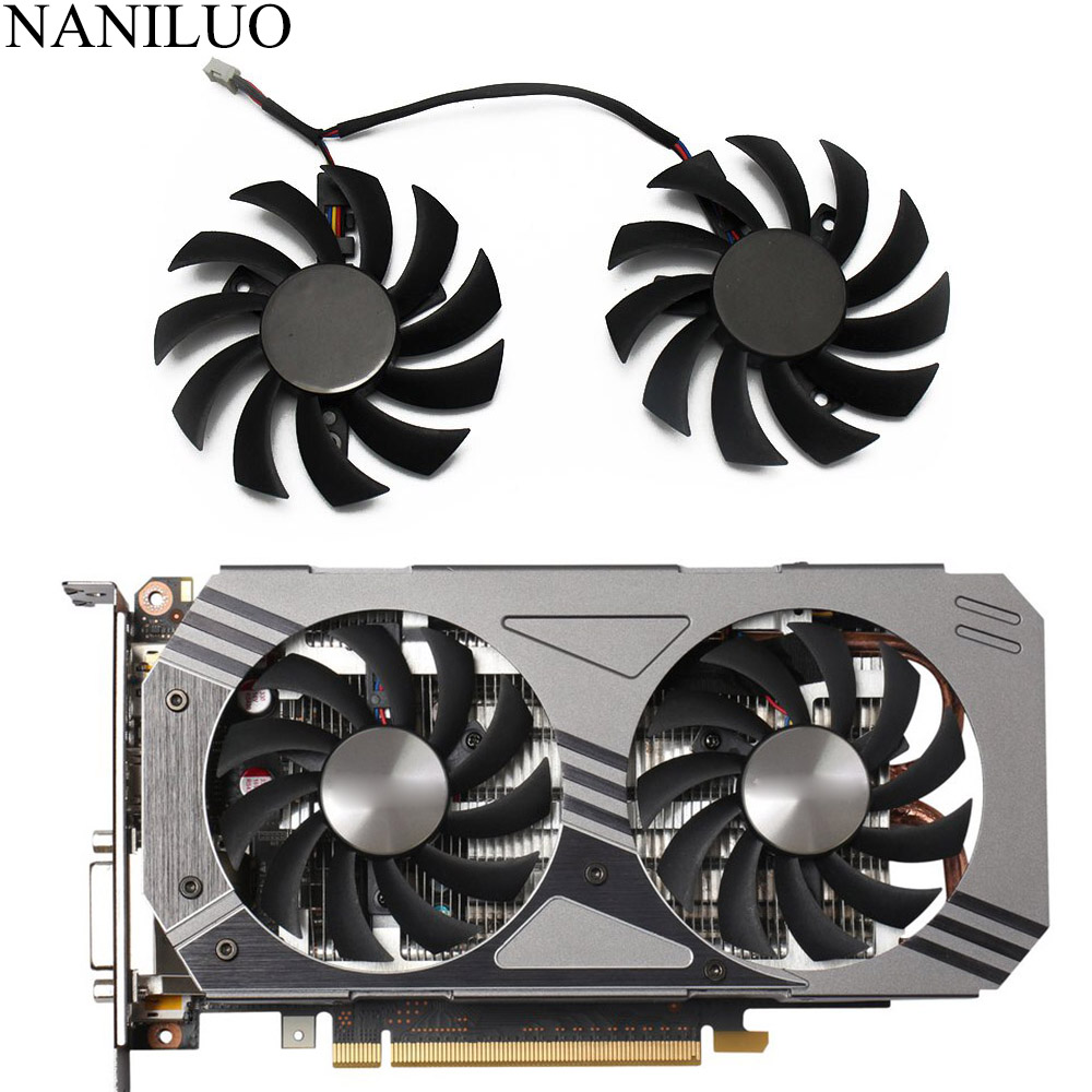 75MM PLD08010S12HH 000 0.35A GTX1060 Cooler Fan For ZOTAC GeForce GTX 1060 3GB AMP! Edition Video Card Cooling Fan image