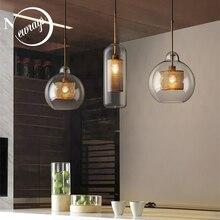 Nordic moderno semplice palla di vetro singolo testa E27 CONDOTTO le luci del pendente di personalità di illuminazione decorativa per soggiorno camera da letto cafe