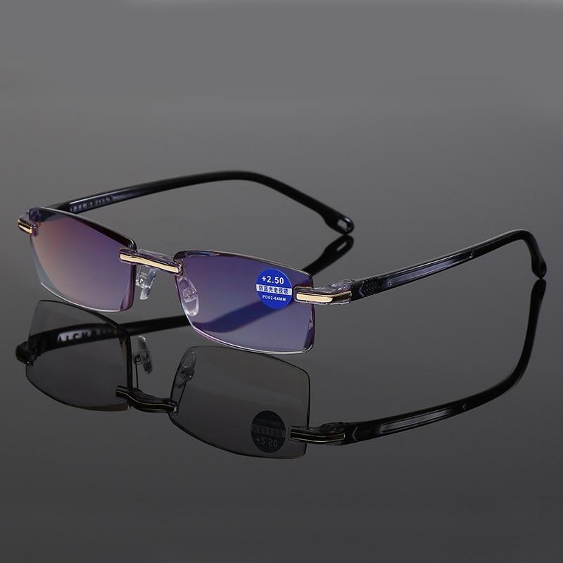 New Arrival Reading Glasses Anti-blue Light Blue Film Men's Presbyopic Business Eyewear Glasses +1.0+1.5+2.0+2.5+3.0+3.5+4.0
